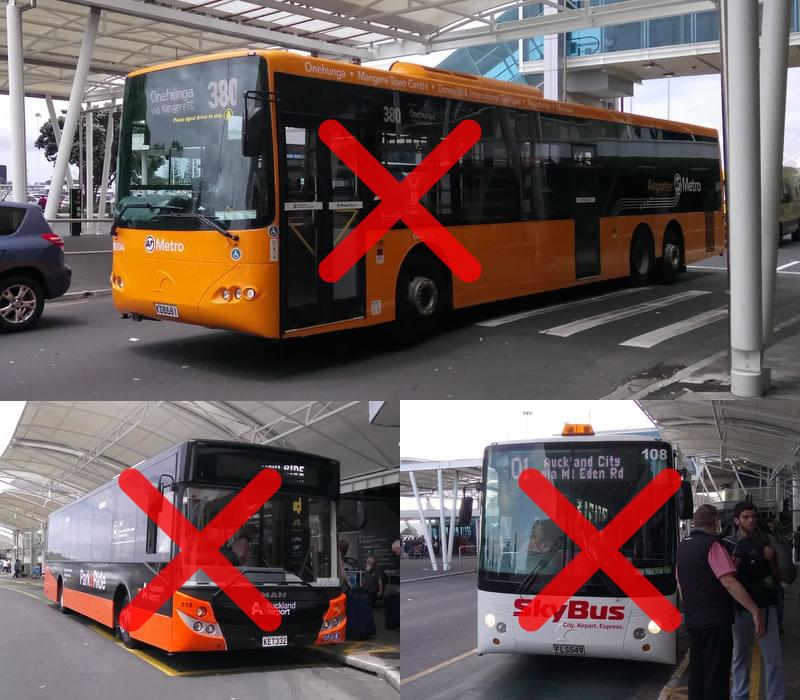 オークランド空港 ターミナル間無料連絡バス 12
