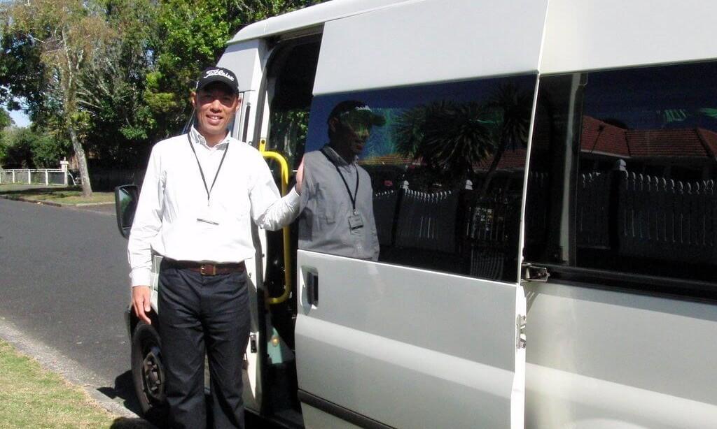 ニュージーランドのゴルフ場往復送迎サービス