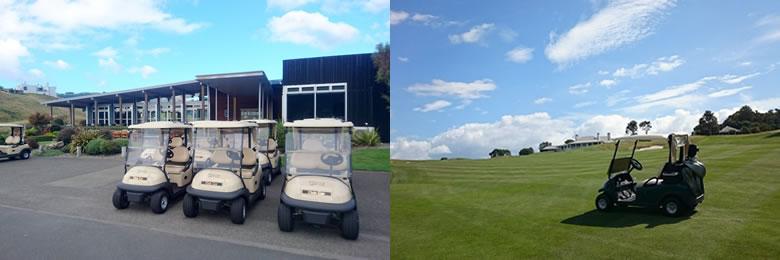 ニュージーランド ゴルフの特徴 カート 4