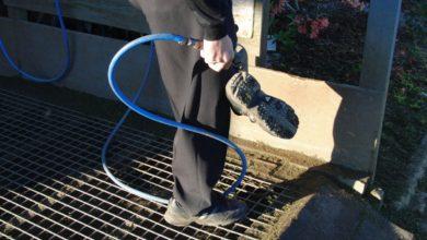 ニュージーランド ゴルフの特徴 靴裏の清掃