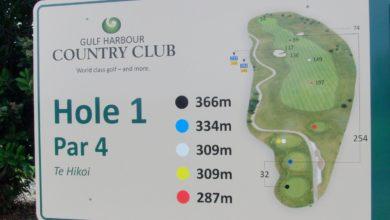 ニュージーランド ゴルフの特徴 メートル表示