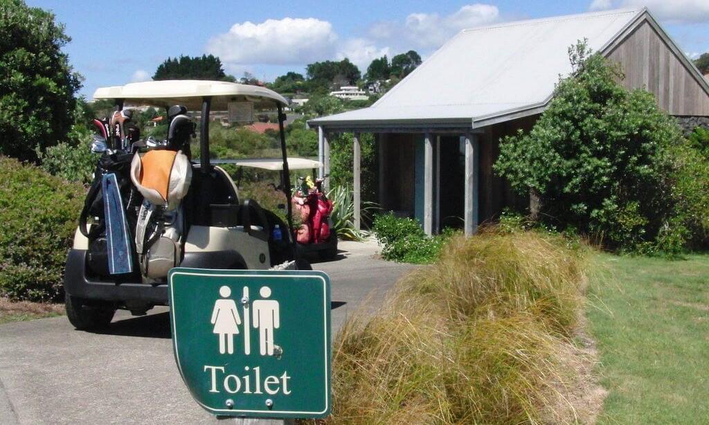 コース途中にあるトイレ