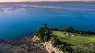 ニュージーランド ゴルフ場 ガルフハーバー 16番グリーン