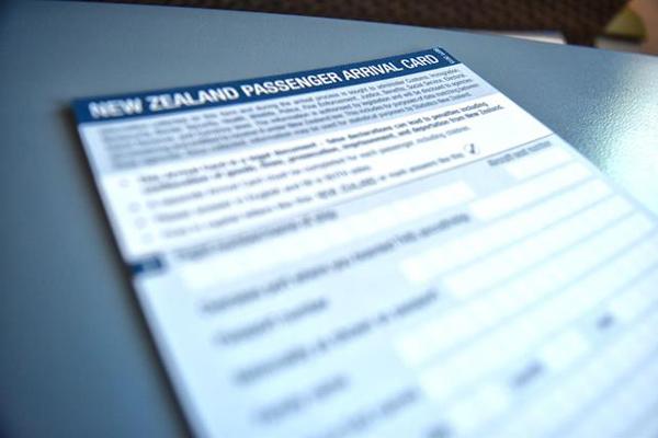 ニュージーランド 基本情報 入国カード
