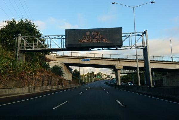 ニュージーランド 新型コロナウイルス 道路